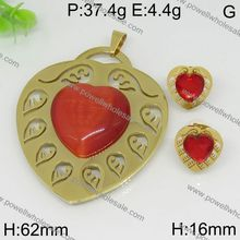 2015 Powell New Arrive Hottest heart eternal tahitian pearl jewelry set