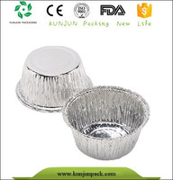 food grade disposable small round aluminum foil container