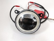 2015 newest super bright LED FOG lamp with angel eye ring with led daytime running light DRL