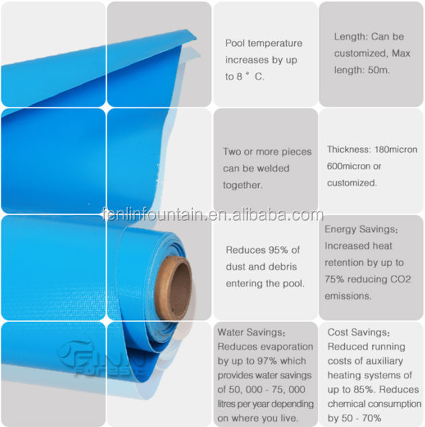 Wholesale antiskid 2mm blue color mosaic color for Installing pool liner in cold weather