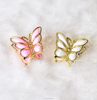 Decorative customized small plain claw metal crystal plastic butterfly hair clip