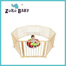 Natural Wooden Hexagonal Baby Playpen Safety Pen
