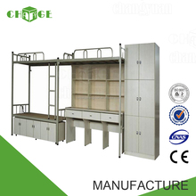 China customized queen size bunk bed with locker and drawer