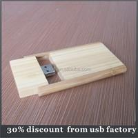 custom bulk 16GB flip wooden usb pen drive