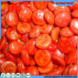China manufacturer flat round colorful 8mm-50mm double checker wholesale glass gems