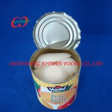 Cheap wholesale canned food, canned pear halves in light syrup with private brand