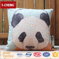 Trade Assurance Creative Cute Panda Pattern Printed Design Custom Cushion Home Decor Pillow Case Animal Print Cushion