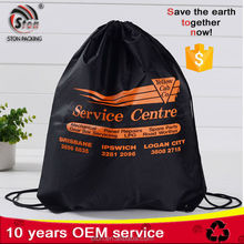 customized reusable commercial Durable oxford laundry drawstring bag for hotel