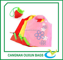 Small reusable polyester fruit and vegetables folding shopping bag