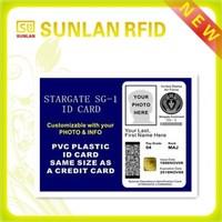 Customized RFID ISO7816 photo id cards