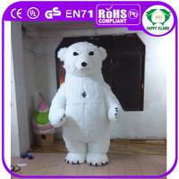 HI CE new products 2.9m inflatable mascot costume adult polar bear costume