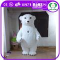 Hi CE nuevos productos 2 m inflable mascota de disfraces de adultos traje de oso polar