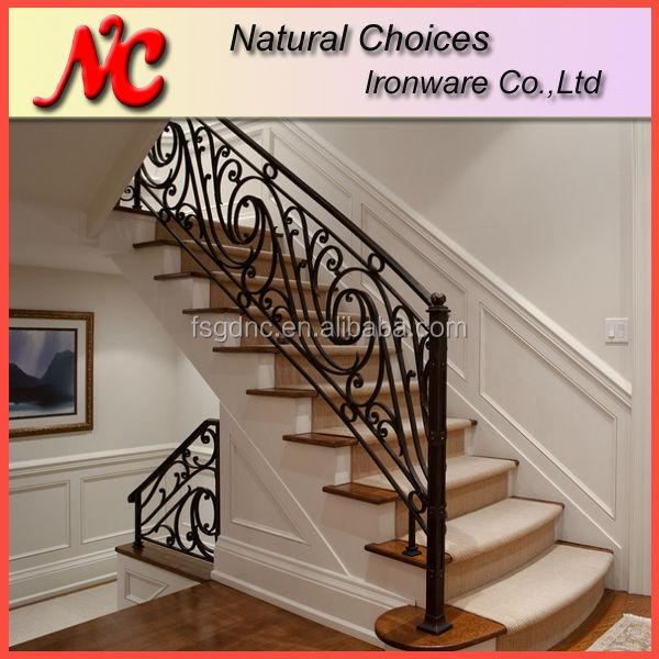 Barandillas de hierro para escaleras pasamanos de acero - Barandas para escaleras de interior ...