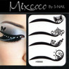 design lady eyes temporary tattoo makeup sticker magic instant eyeshadow stickers eye tattoo
