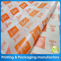 Custom logo wax paper for food