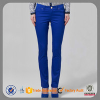 classic blue sexy stretch tight cotton khakis and co women pants