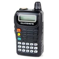 New Black FM Radio Walkie Talkie QuanSheng TG-6A Cable Clone VOX 5W VHF 136-174MHz MonitorTwo Way Radio