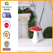 cheap mushroom garden decor was made of terra cotta
