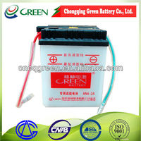 Best quality Green jincheng motorcycle parts,6v 4ah jincheng motorcycle battery,6v storage battery(6N4-2A)