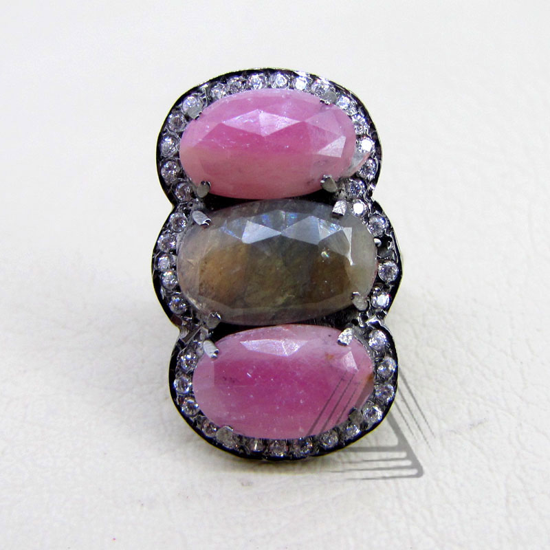 Smart Silver Diamond Antique Style Fashion Rings 925 Silver Ring Multi Sapphire Ring Buy 925