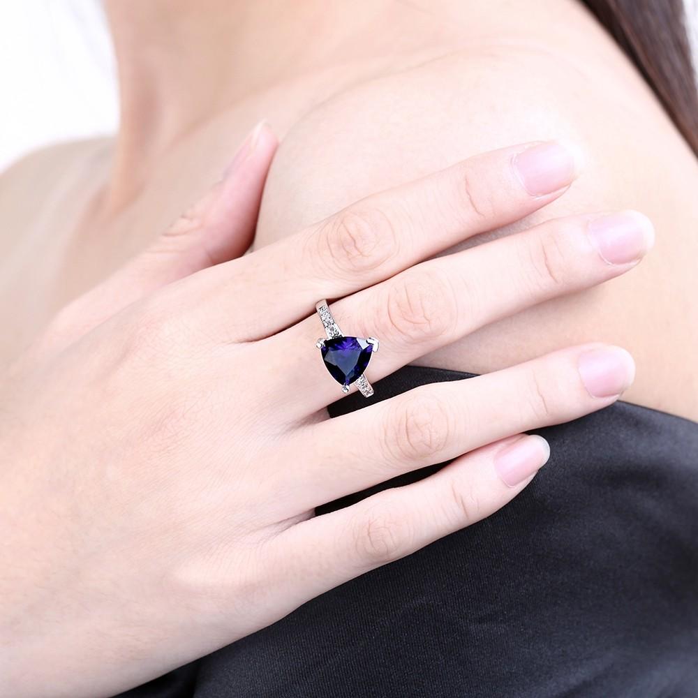 Wholesale Yiwu Jewelry Factory Delicate Ruby / Blue Single Stone ...