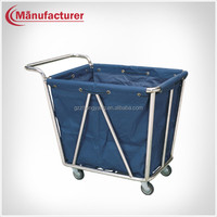 Hotel Stainless Steel Laundry Cleanig LinenTrolley Manufacturer/Housekeeping Cart Equipment
