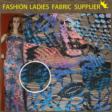 Wholesale fashion sequin flower print african lace fabric