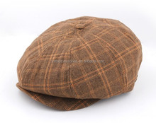 Fashion 8 panels newsboy baby caps fabric hats in different colors