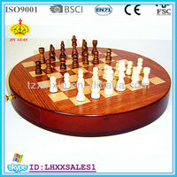 wooden antique chinese chess set