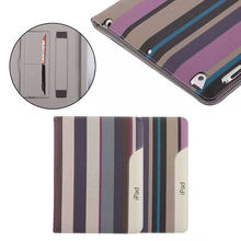 For ipad 4 stripe case, for ipad 4 leather cover, for ipad 4 bag skin