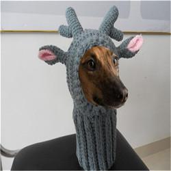 hand crochet doggy pet hat , knitted dog hat , animal crochet hat