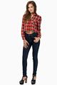 venta caliente la mujer blusas a cuadros con un estilo de customerized