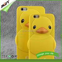 3D cute duck design silicone mobile phone case for iphone 5/5s cartoon rubber case