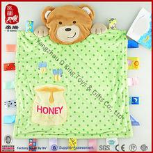 OEM comfort baby toys stuffed dog blanket plush animal hear baby blanket