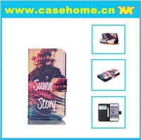leather wallet credit card slip pu leather case for iphone 4/4s
