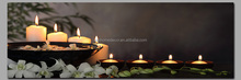 Light up candle canvas painting ,led candle canvas painting