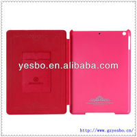 high quality stand pu leather case for ipad 5 with card slot