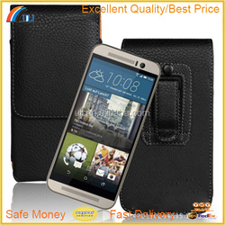 Leather Belt Clip Holster Pouch Case for HTC ONE M9