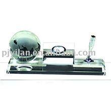 elegante de vidrio de cristal titular de la pluma de oficina y papelería para el regalo