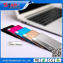 Hot selling new product 2015 portable credit card power bank polymer slim for smart phone and promotion gift