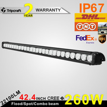 Import cheap goods from China straight led bar light, 260w led light driving bar 4x4, offroad 12v driving led light bar