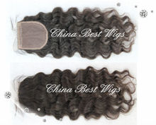 best quality natural color picture curl silk base closure