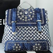 Designer handbags ladies tote shoulder bag backpack dual purpose crstal studded bags SY5936