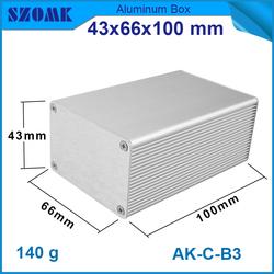 High-quality aluminum metal enclosures for pcb 43x66x100mm