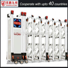 Security barrier electric automation folding expanding electric retractable gate