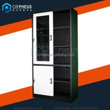 Commerical furniture industrial all steel storage cabinets sliding door steel cupboard/metal storage cupboard for office