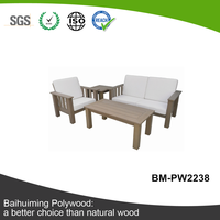 UV-resistant Natural Color Plastic Lumber Outdoor Sofa Set