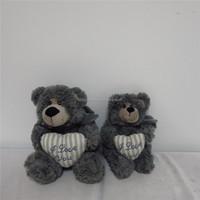18cm HighTeddy Bear With Heart,Plush Stuffed Teddy Bear Wholeasale