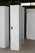 one door single military steel locker with hanging coat rod
