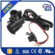Motorcycle 12V Cigarette Lighter 2 USB Power Port Outlet Charger for iphone6 GPS